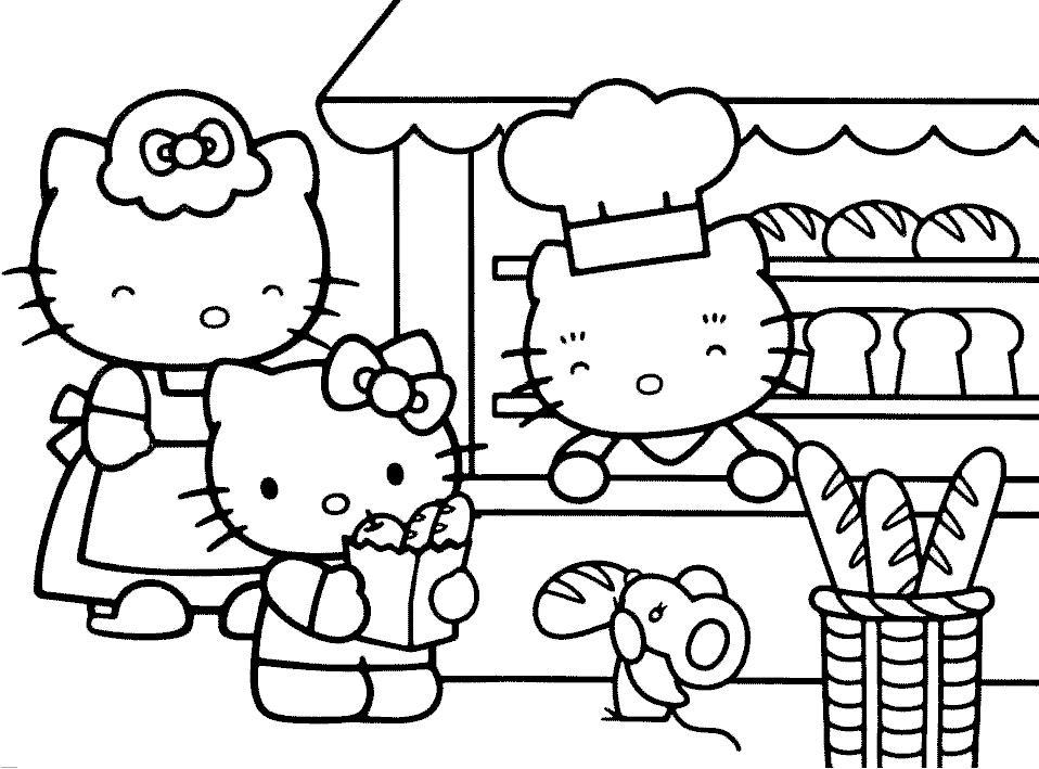 Хелло китти с друзьями лев кенгуру Раскраски цветы онлайн ...