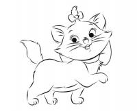 Котенок с бантиком Для детей онлайн раскраски с цветами