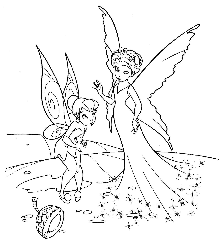Феи фея извиняется Раскраски для девочек онлайн