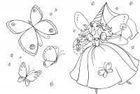 Фея с палочкой Раскраски с цветами распечатать бесплатно