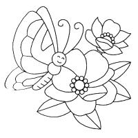 Цветы с листьями Раскраски с цветами распечатать бесплатно