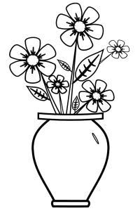 Растущие цветы Раскраски с цветами распечатать бесплатно