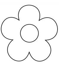 Цветы как пуговица Раскраски с цветами распечатать бесплатно