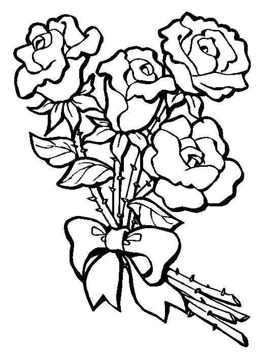 Цветы в банте Онлайн бесплатные раскраски цветы