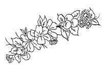 Разновидные цветы Онлайн бесплатные раскраски цветы