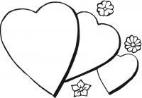 Сердечки с цветочками Раскраски с цветами распечатать бесплатно