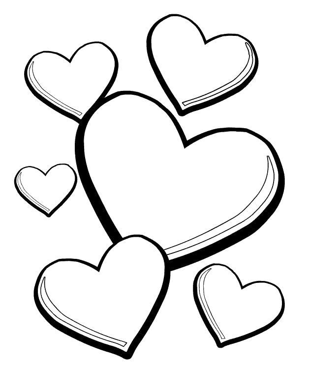 Раскраска сердечек сердечки с черной штриховкой Скачать ...